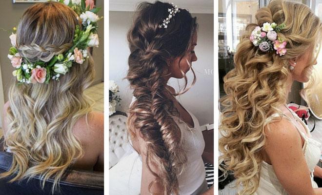 peinados boda novia florales