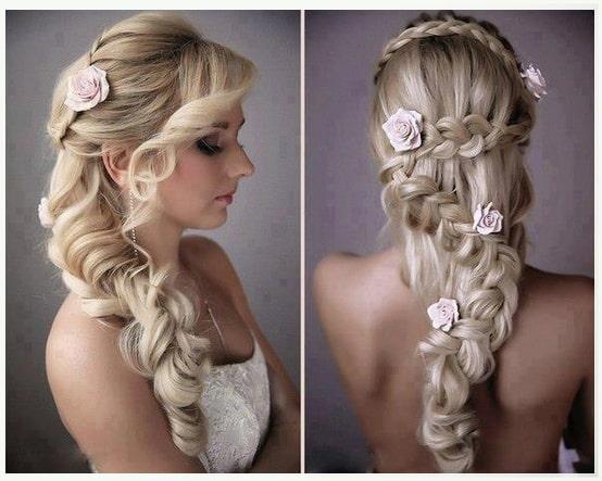 Peinados faciles para boda cabello largo