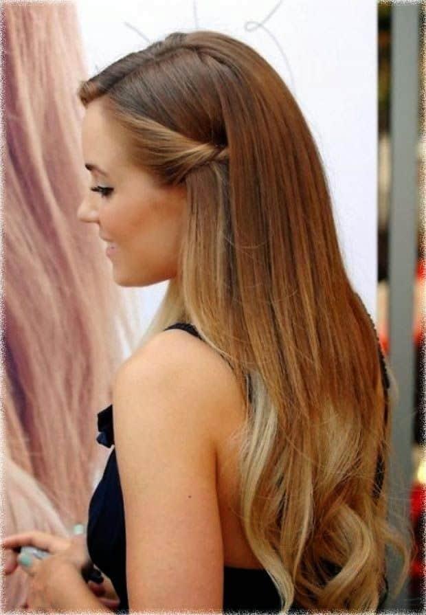 Peinado facil con pelo suelto
