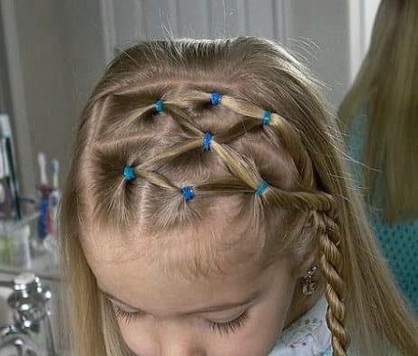 peinados con ligas para bebes