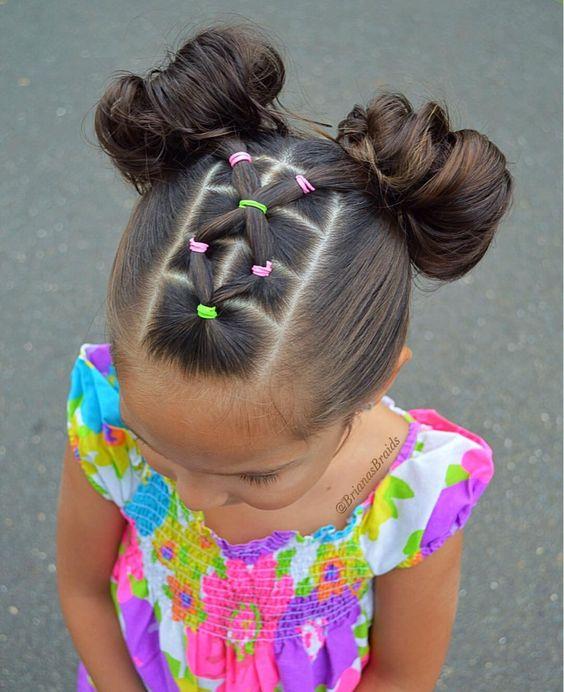 peinados con ligas para niñas5