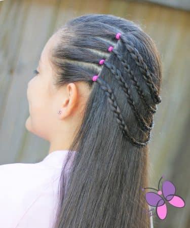 peinados con ligas trenzas lacio