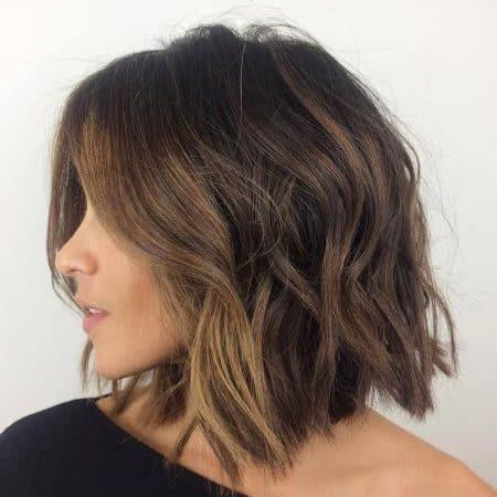 peinados con ondas bob