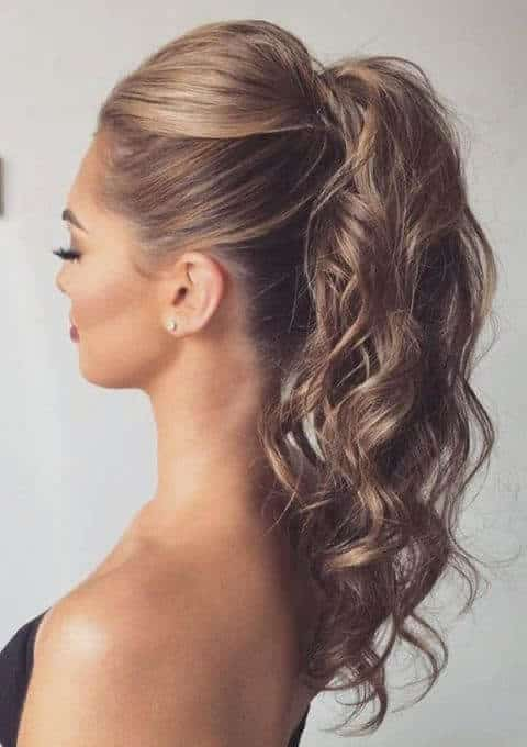peinados con ondas coleta volumen