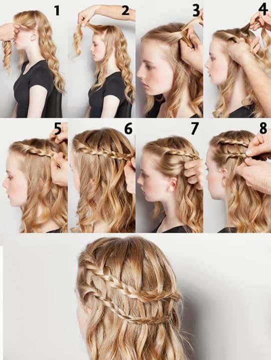 peinados con ondas dos trenzas