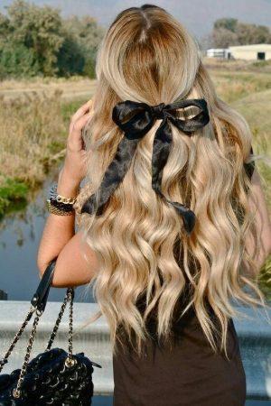 peinados con ondas lazo