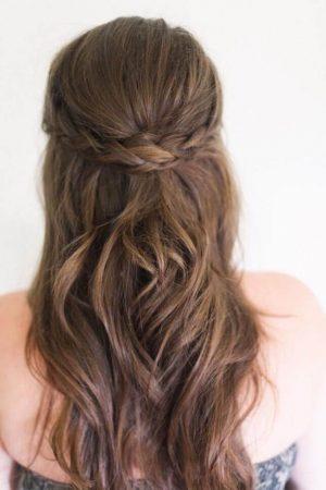 peinados con ondas semirecogido bodas
