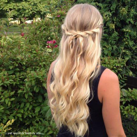 peinados con ondas semirecogido twist