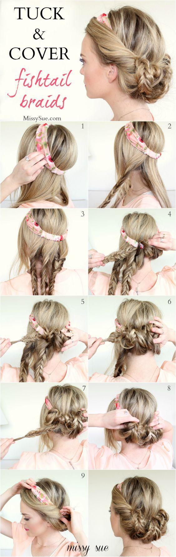 peinados con trenzas recogido en flor