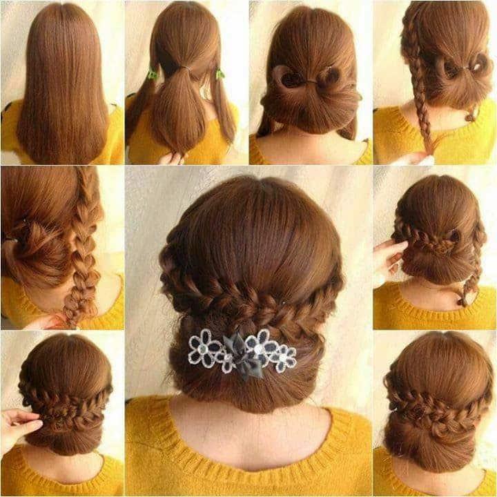 peinados con trenzas recogido