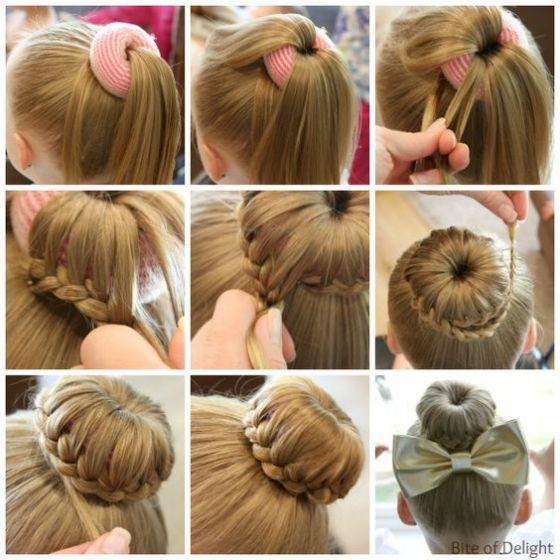 peinados en dona para niñas