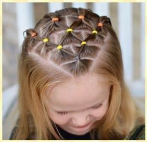 peinados faciles para niñas con ligas cabello suelto 3 años