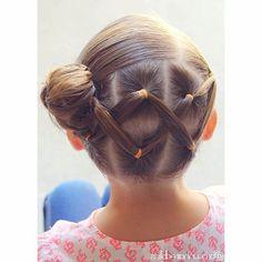 peinados ninas ligas cruzadas