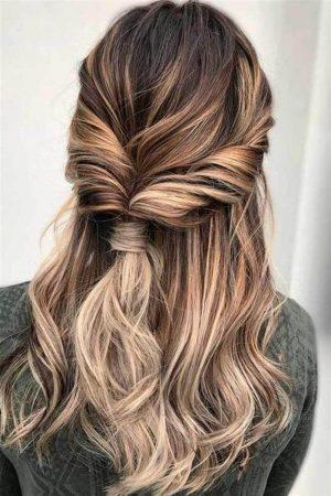peinados ondas semi coletita trenzaleta