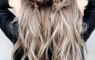 peinados ondas trenzas dos