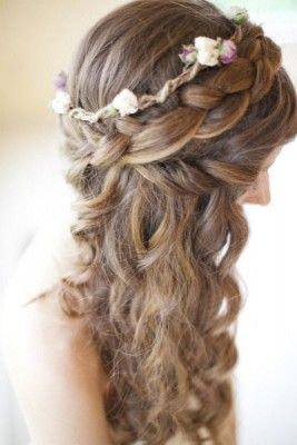 peinados para 15 anos ondas flores
