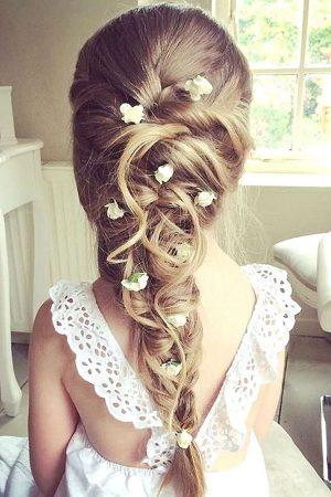 peinados para boda niñas