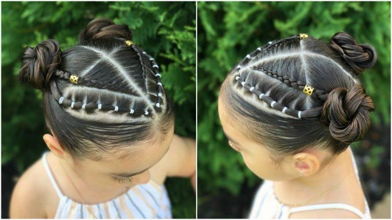 Formas modernas de peinados de niña faciles Fotos de estilo de color de pelo - 37 Peinados con Ligas para Niñas ¡FÁCILES y NUEVOS!