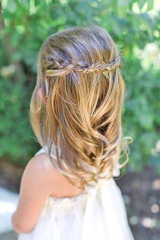Peinados de boda para nina pelo corto