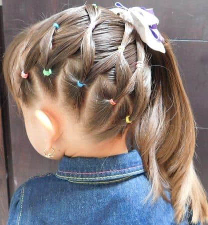 peinados para ninas pelo medio ligas