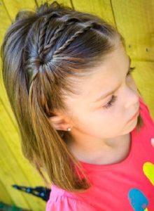 peinados para ninas pelo medio trenzas