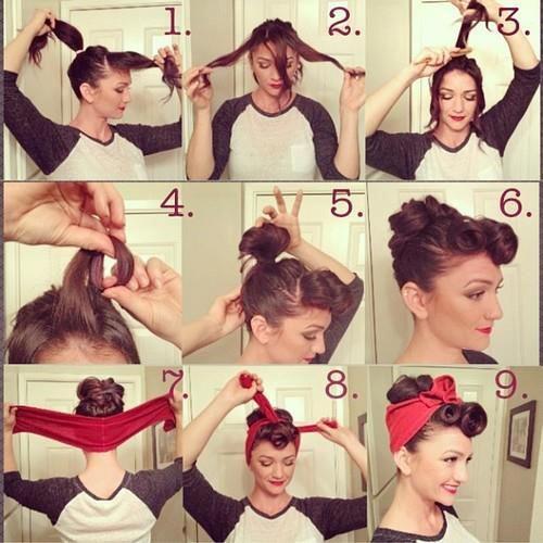 peinados pin up con panuelo