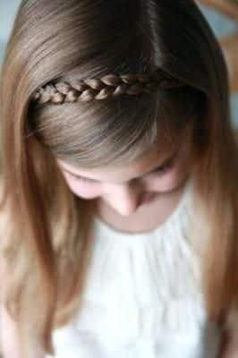 peinados primera comunion diadema cabello corto