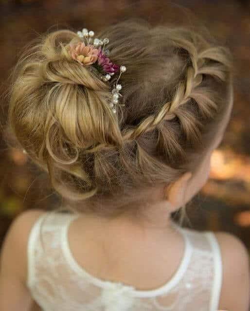 peinados primera comunion recogido elegante