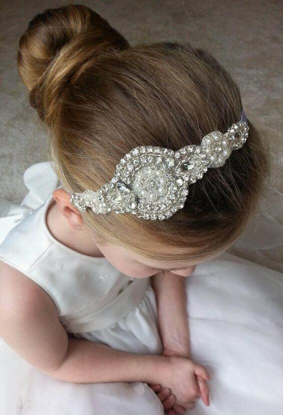 peinados primera comunion tiara recogido bajo