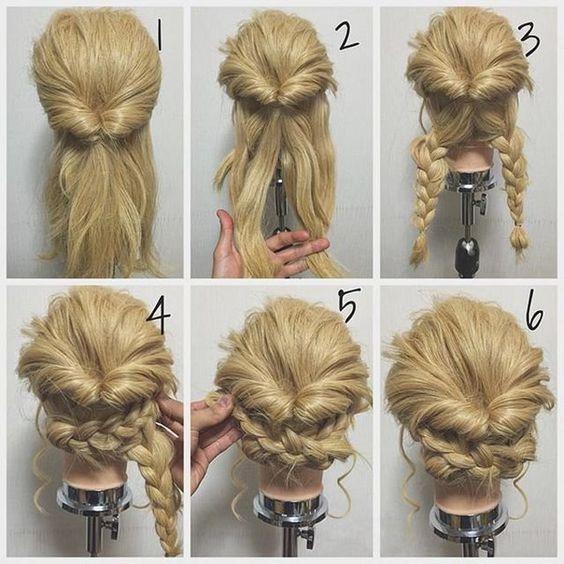 Peinados recogidos cabello largo paso paso