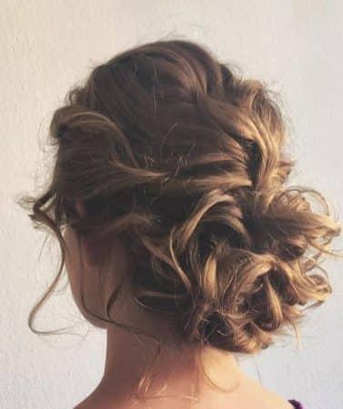 peinados recogidos rulos