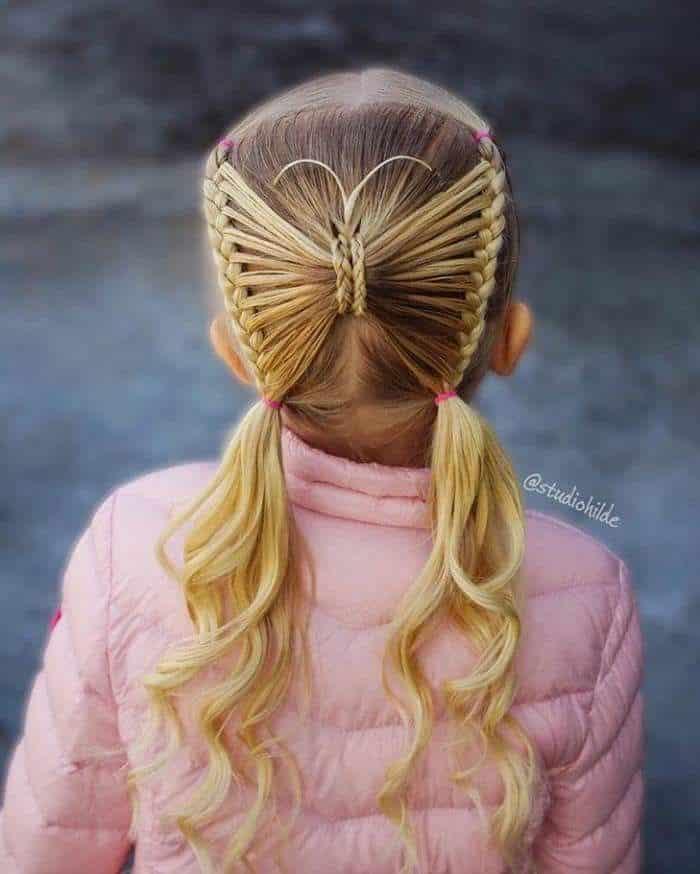 Trenzas mariposas