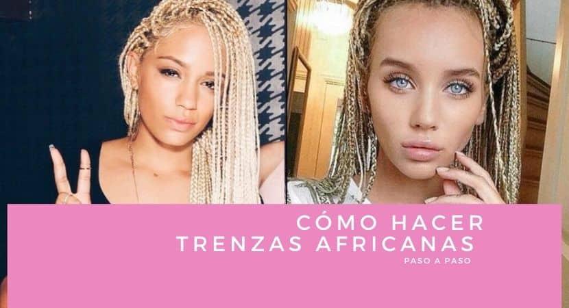 como hacer trenzas africanas