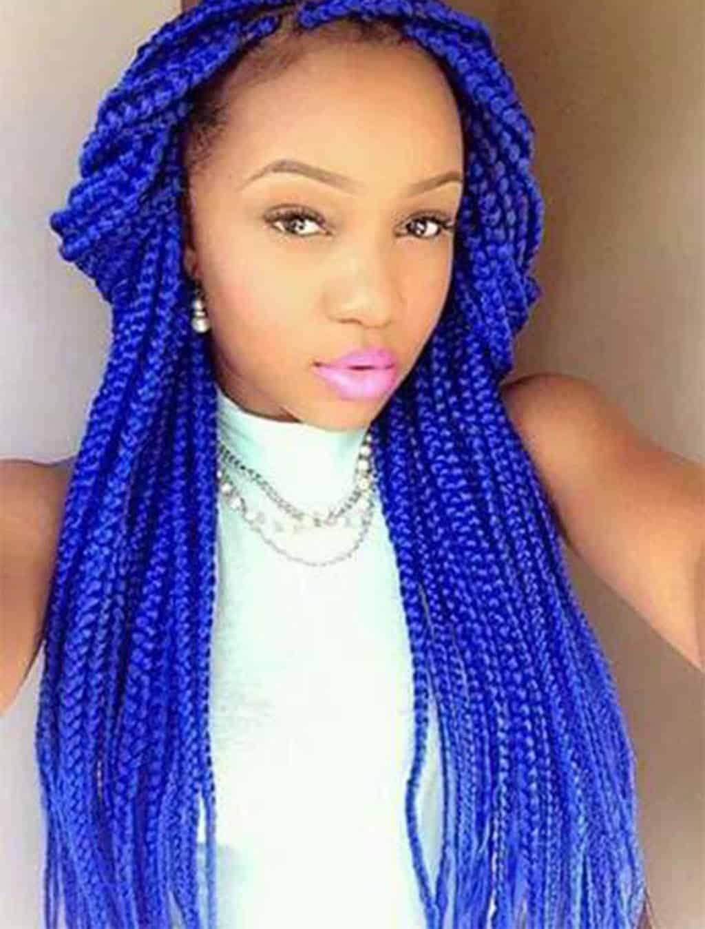 trenzas africanas azules