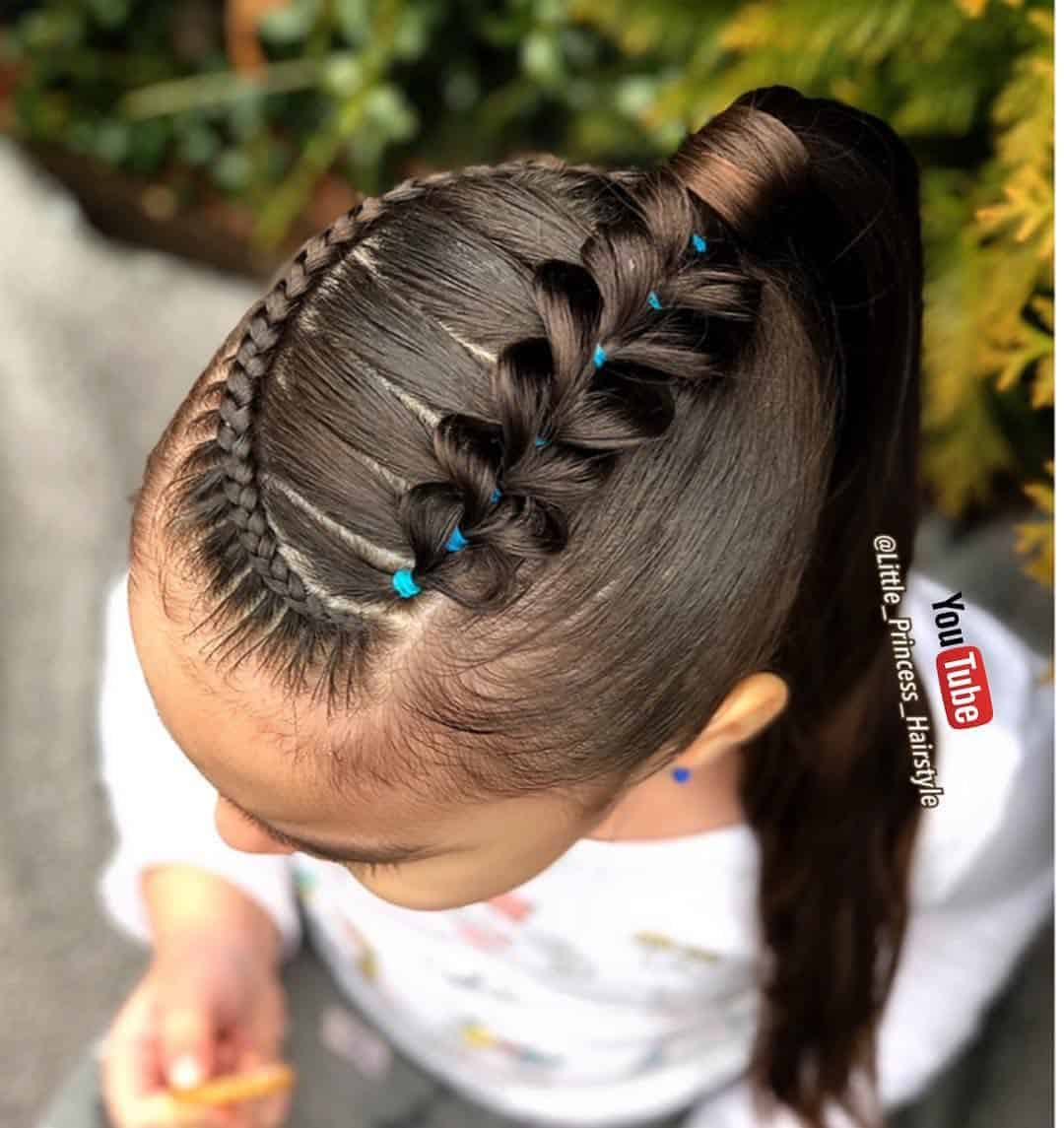 Minimalista peinados de niña trenzas Fotos de cortes de pelo tendencias - 75 Peinados con Trenzas para niñas fáciles paso a paso con ...