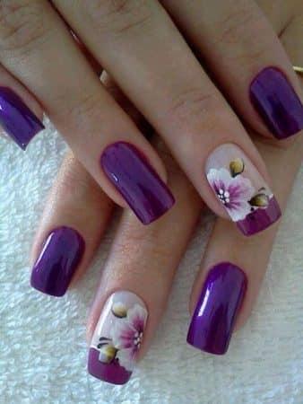 pintar unas con flores 16