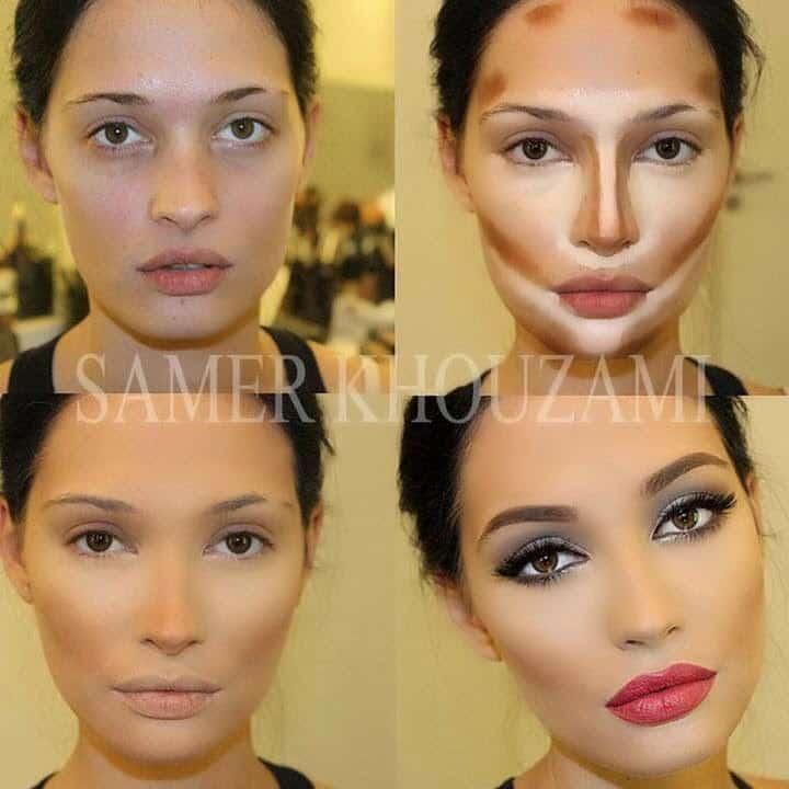 tecnica contouring maquillaje