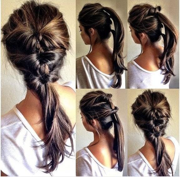 Peinados con cabello recogido y faciles