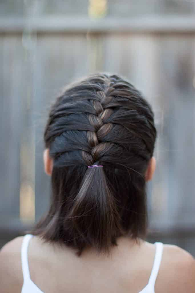 trenzas francesas cabello corto