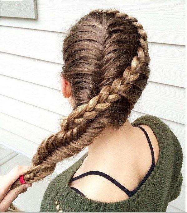 trenzas francesas cabello largo