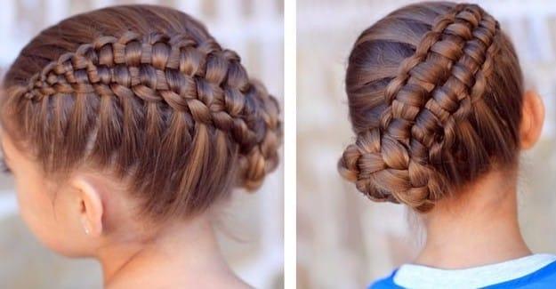 Modelos de peinados de trenzas para nina