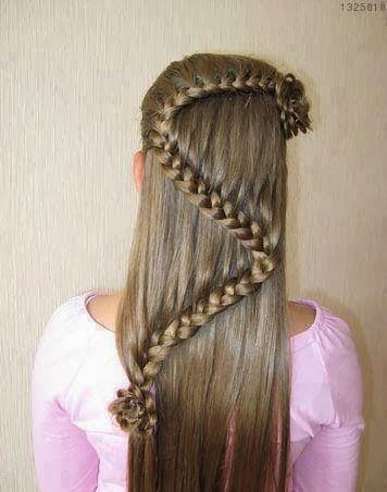 trenzas para ninas cabello lacio
