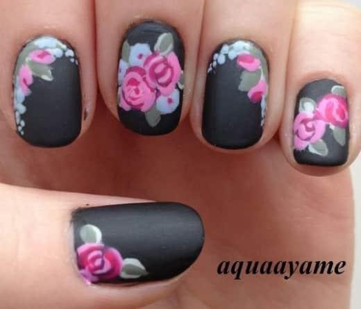 imágenes uñas con flores