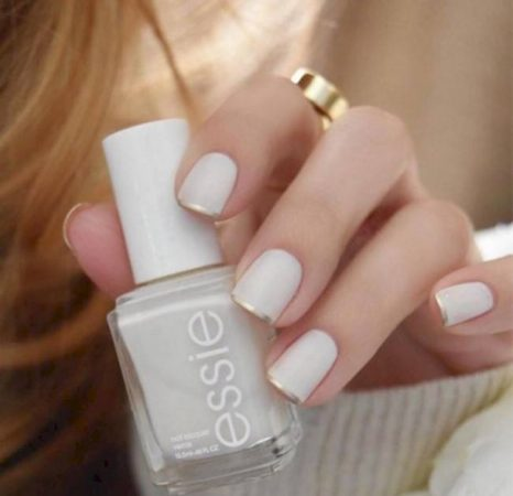 uñas hermosas con manicura francesa 8