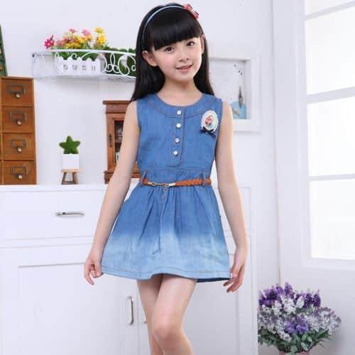 vestido corto ninas