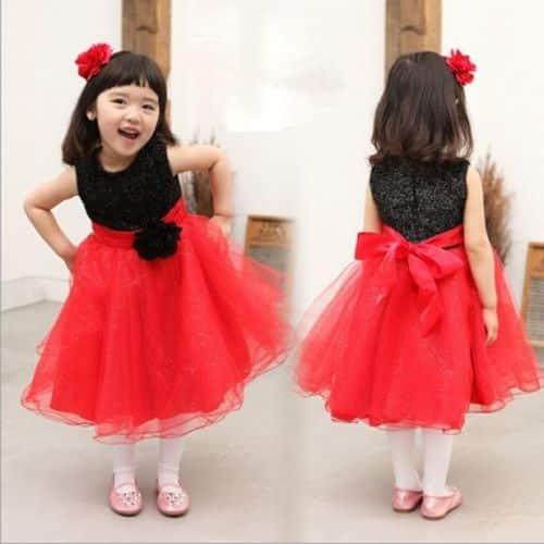 vestido de dos colores para nina