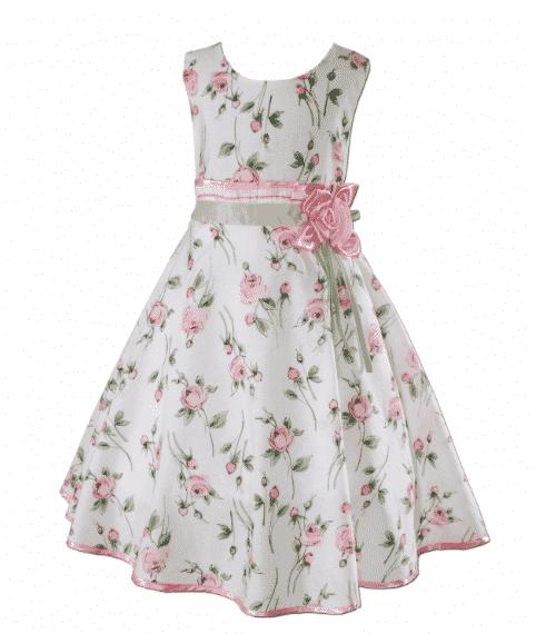 vestidos para niña de 10 años imagenes con flores