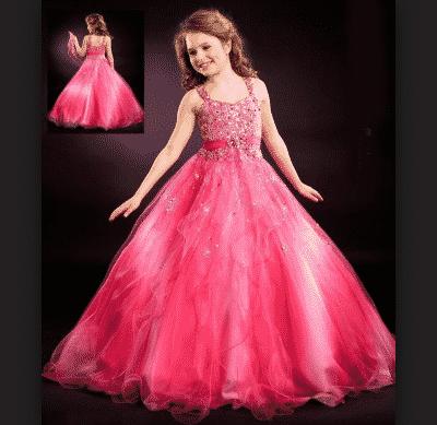 vestidos para niñas largos como de princesa