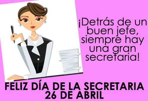 Día de la Secretaria tarjetas 2j