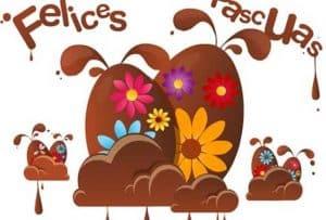 Imagenes De Felices Pascuas chocolate 650x440